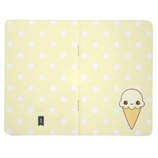 Kawaii Happy vanilla Ice cream cone Journal