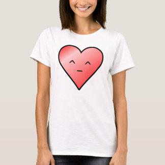 Kawaii heart skinny t shirt
