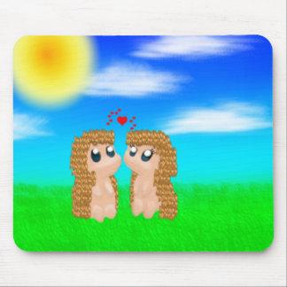 Kawaii Hedgehogs Mouse Pad