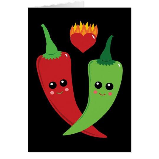 Kawaii Hot Pepper Card
