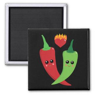 Kawaii Hot Pepper Square Magnet