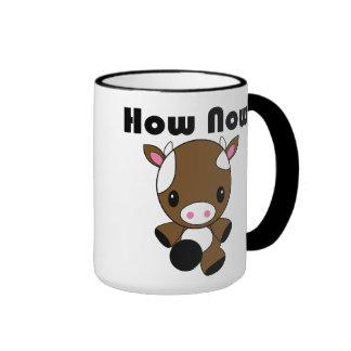 Kawaii How Now Brown Cow Mug