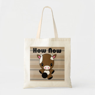 Kawaii How Now Brown Cow tote bag