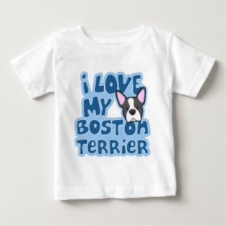 Kawaii I Love My Boston Terrier Baby's Baby T-Shirt