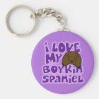 Kawaii I Love My Boykin Spaniel Key Ring