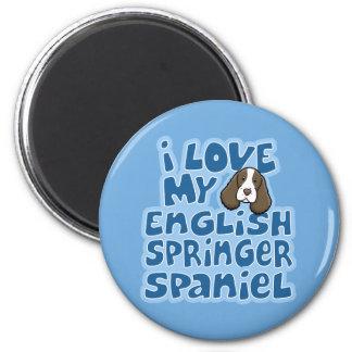 Kawaii I Love My English Springer Spaniel 6 Cm Round Magnet