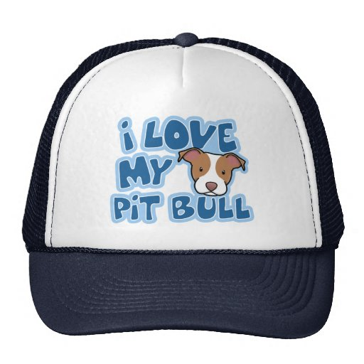 Kawaii I Love My Pit Bull Cap