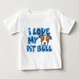 Kawaii I Love My Pit Bull Child's Tees