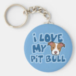 Kawaii I Love My Pit Bull Keychain