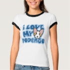 Kawaii I Love My Portuguese Podengo Ladies' T-Shirt