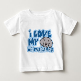 Kawaii I Love My Weimaraner Baby T-Shirt
