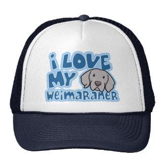 Kawaii I Love My Weimaraner Cap