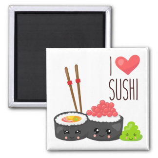 Kawaii I Love Sushi Magnet