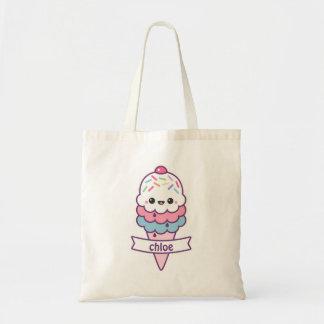 Kawaii Ice Cream Cone Tote Bag