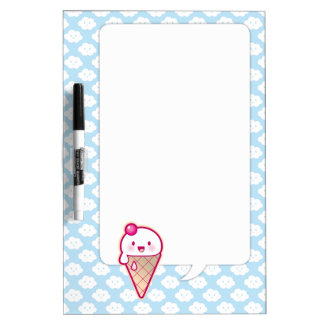 Kawaii Ice Cream Dry Erase White Board