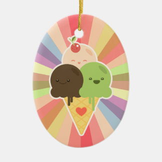 Kawaii Ice Cream Rainbow ornament