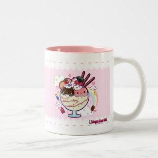 Kawaii Ice Cream Two-Tone Coffee Mug