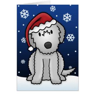 Kawaii Irish Wolfhound Christmas Card