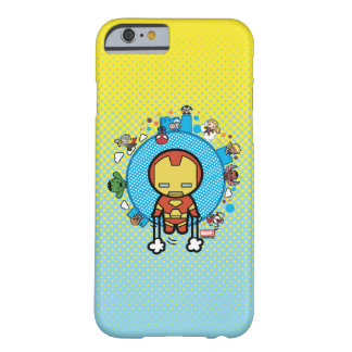 Kawaii Iron Man With Marvel Heroes on Globe Barely There iPhone 6 Case