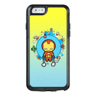 Kawaii Iron Man With Marvel Heroes on Globe OtterBox iPhone 6/6s Case