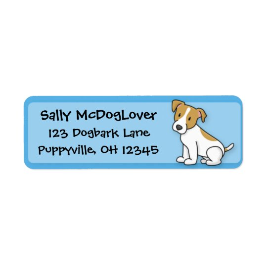 Kawaii Jack Russell Terrier Return Address Label