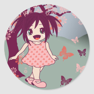 Kawaii Japanese Chibi Anime Manga Girl Stickers