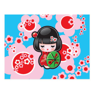 Kawaii Japanese Doll Post Card