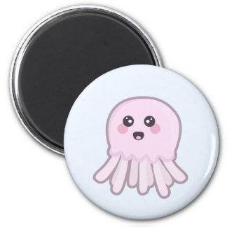 Kawaii Jellyfish 6 Cm Round Magnet
