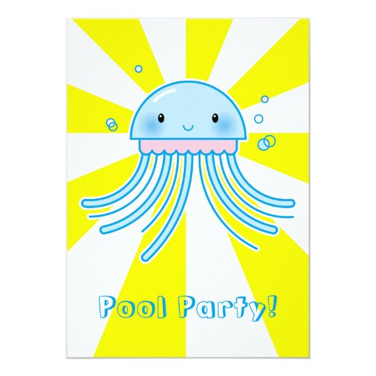Kawaii jellyfish card