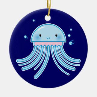 Kawaii jellyfish christmas ornament