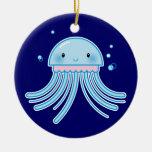 Kawaii jellyfish christmas tree ornament