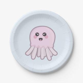 Kawaii Jellyfish Paper Plate