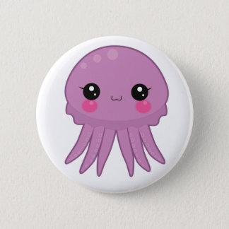 Kawaii Jellyfish Pin Badge Purple