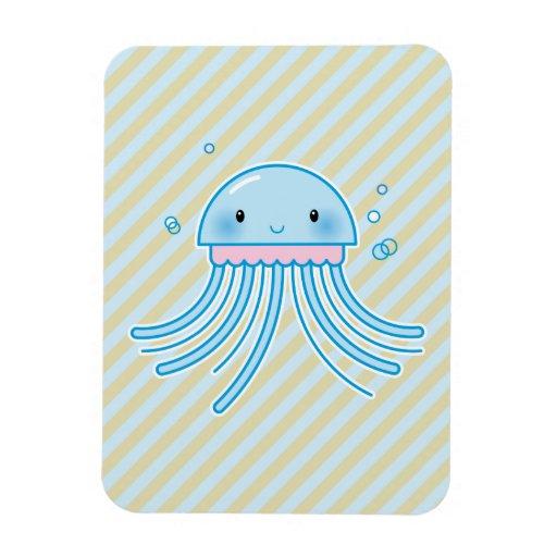 Kawaii jellyfish flexible magnets