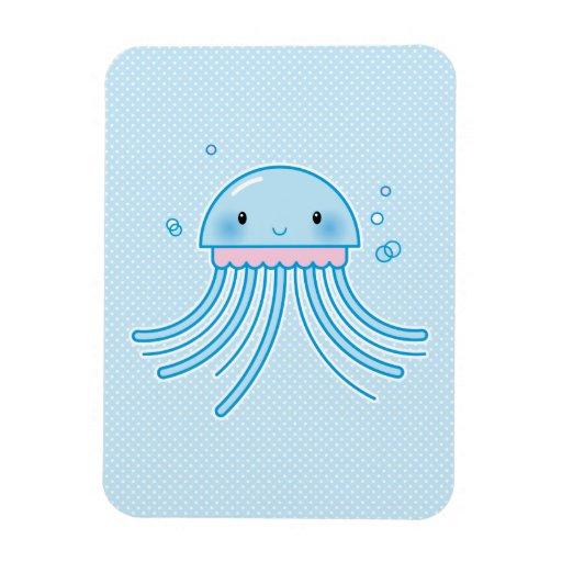 Kawaii jellyfish rectangular magnet