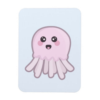 Kawaii Jellyfish Rectangular Photo Magnet