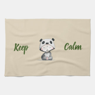Kawaii// Keep Calm // Panda Ears Tea Towel