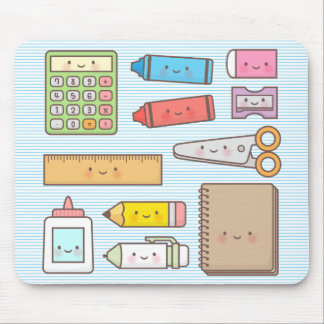 Kawaii Kids Back to School Supplies Mouse Mat