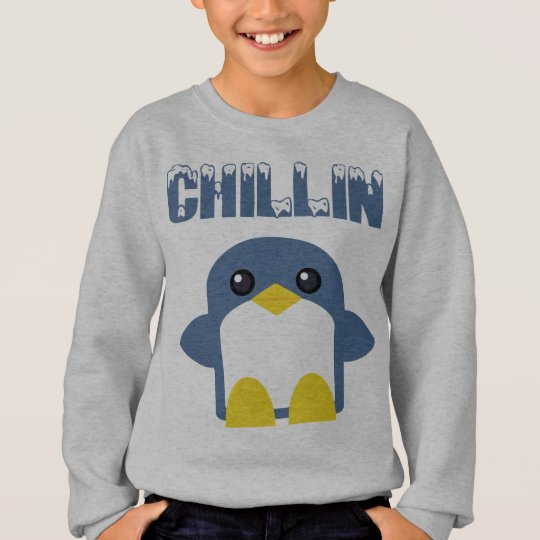 kawaii kids penguin chillin sweety tweety sweatshirt