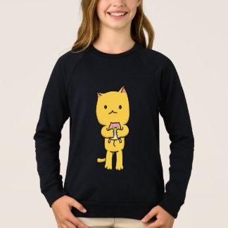 Kawaii Kitten Girls'  Apparel Raglan Sweatshirt