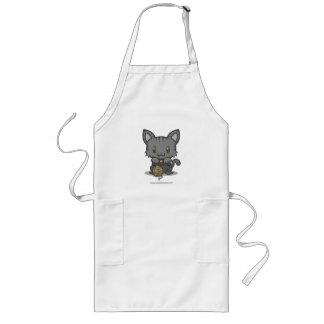 Kawaii Kitty (Gray Striped) Aprons