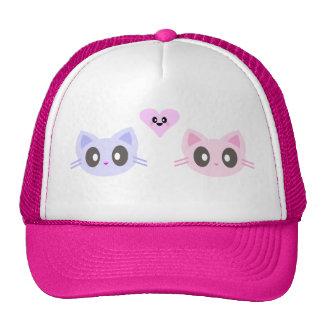 kawaii kitty love cap