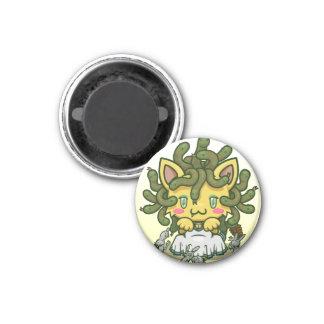 Kawaii Kitty (Medusa) 3 Cm Round Magnet