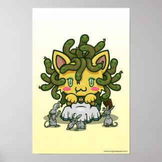 Kawaii Kitty (Medusa) Posters