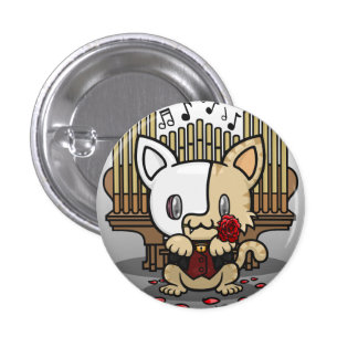 Kawaii Kitty (Phantom of the Opera) Pinback Buttons