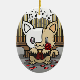 Kawaii Kitty (Phantom of the Opera) Christmas Ornament
