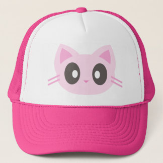 kawaii kitty trucker hat