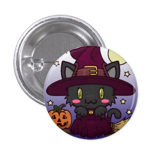 Kawaii Kitty (Witch) Pinback Buttons