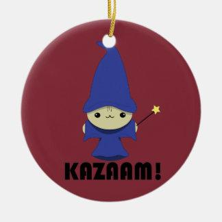 Kawaii Kitty Wizard Ornaments