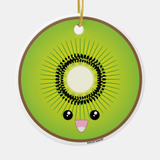Kawaii Kiwi Christmas Ornament